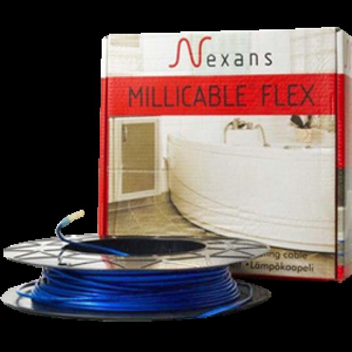 Теплый пол Nexans нагревательный кабель Millicable flex/15 1800Вт, 12 м.кв.